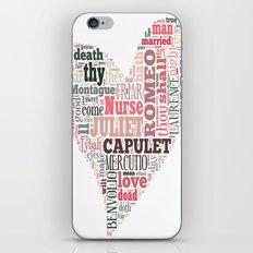 Shakespeare's Romeo and Juliet Heart iPhone & iPod Skin
