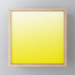 Simply sun yellow color gradient - Mix and Match with Simplicity of Life Framed Mini Art Print