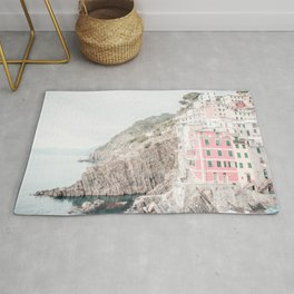 Positano, Italy Pink Travel Photography in hd Rug