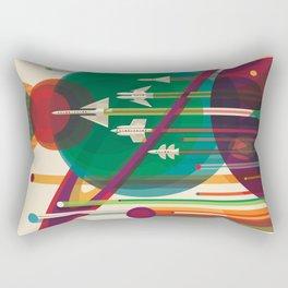 Retro Space Poster - The Grand Tour Rectangular Pillow