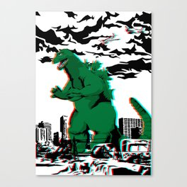 King of the Monsters (3D variant) Canvas Print