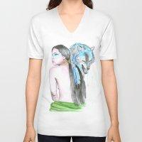 indie V-neck T-shirts featuring Indie by Tamara Kajper