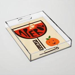 Aperol Spritz Cocktail Print Acrylic Tray