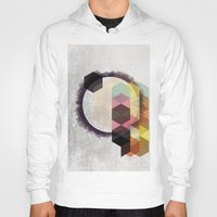 scandinavian Hoodies featuring Geometric Abstract Art, Modern, Minimal, Scandinavian, nordic by Easyposters