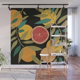 Black Grapefruit Wall Mural