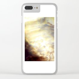 Christmas Lights and White Wine Clear iPhone Case