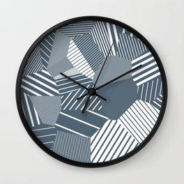 Finite resistance #83 - Voronoi Stripes Wall Clock