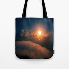 Sunrise view from Stairway to Heaven Trail Oahu HI Tote Bag