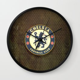FC Chelsea metal background Wall Clock
