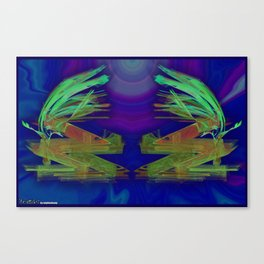 Frakblot Wibbly Canvas Print