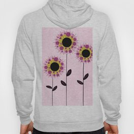 Pink and Yellow Circle Flowers Hoody