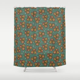 Crunchy nuts pattern Shower Curtain