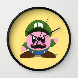 Kirby Luigi Wall Clock