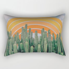 Cactus and Rainbow Rectangular Pillow