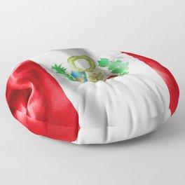 Peru Flag Floor Pillow