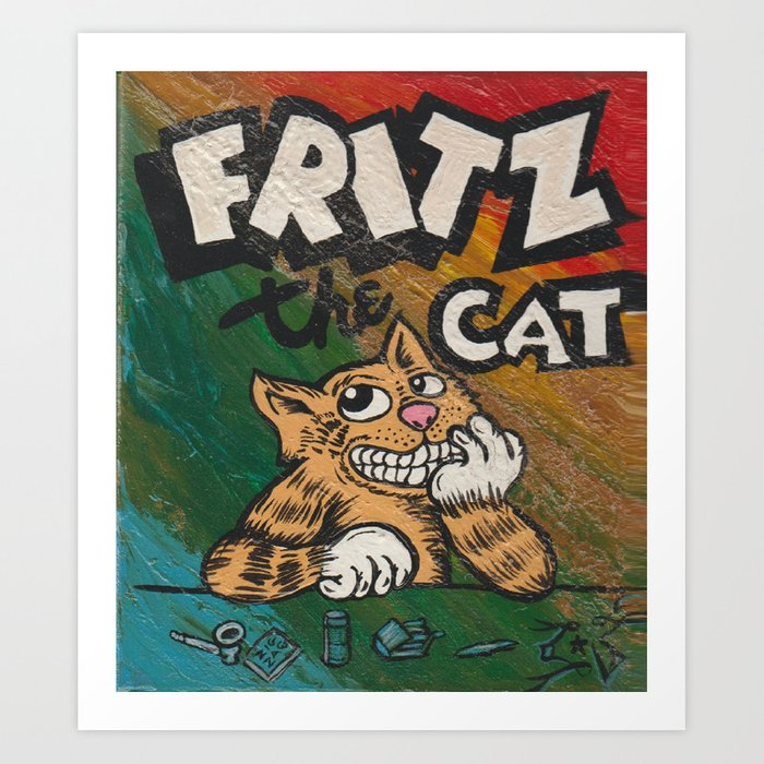 Cult Icon Fritz The Cat By David C J Bunn Art Print By Captainjoint Society6