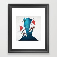Fox Mask Framed Art Print