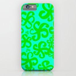 Turquoise Hibiscus iPhone Case