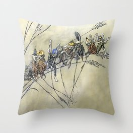 """""""Bother the Gnat Audience"""" by A Duncan Carse Throw Pillow"""