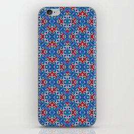 Patriotic Curly Diamonds iPhone Skin