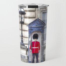 Buckingham Palace Queens Guard Art Travel Mug