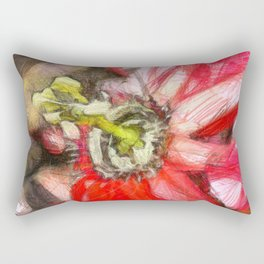 Popy variation 6th - pencil Rectangular Pillow