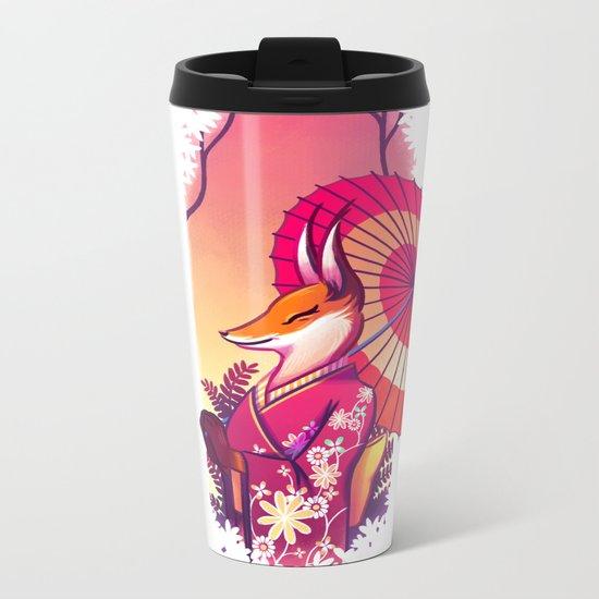 Kimono Kitsune Metal Travel Mug