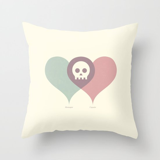 Montague and Capulet Throw Pillow
