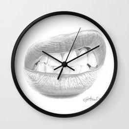 Rabbia / Rage - Aggressive Lips - Mouth Wall Clock