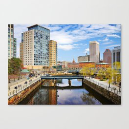 Waterplace Park Downtown Providence, Rhode Island Canvas Print