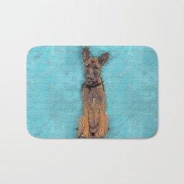 Belgian Malinois Puppy Sketch - Mechelaar Bath Mat