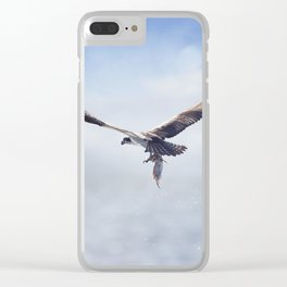 Osprey in Flight Carrying A Fish In It's Talons Clear iPhone Case