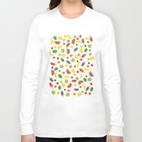 fruits Long Sleeve T-shirts featuring Fruits by Ananá