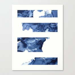 way to the sea | abstract watercolour collage | shades of blue Canvas Print