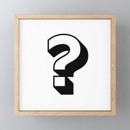 Question Mark ? Framed Mini Art Print