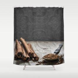 Cinnamon art #food #stilllife Shower Curtain