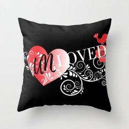 Unloved Dark Throw Pillow