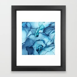 The Blue Abyss - Alcohol Ink Painting Framed Art Print