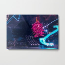 Senso-Ji Pagoda Metal Print