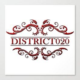 District020 logo red Canvas Print