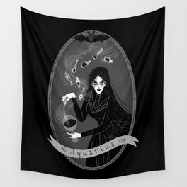Aquarius Witchy Zodiac Wall Tapestry
