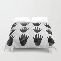 hands Duvet Covers featuring hands by namaki