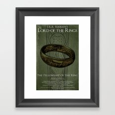Lord of the Rings - Fellowship of the Ring Framed Art Print