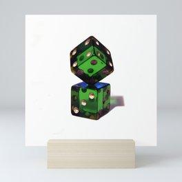 Rigged dices Mini Art Print