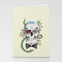 calavera Stationery Cards featuring Calavera by Barbara Azul