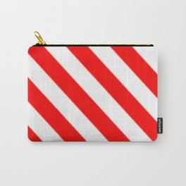 Red White Stripe Carry-All Pouch