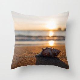 Seashore Seashell Throw Pillow