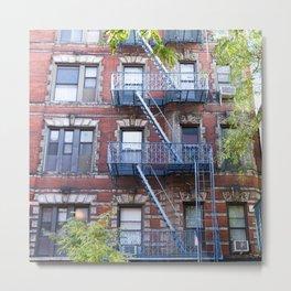 Downtown Walk Up Metal Print