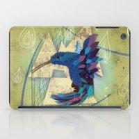 hummingbird iPad Cases featuring Hummingbird by UvinArt