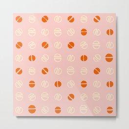 pink and orange modernist Metal Print